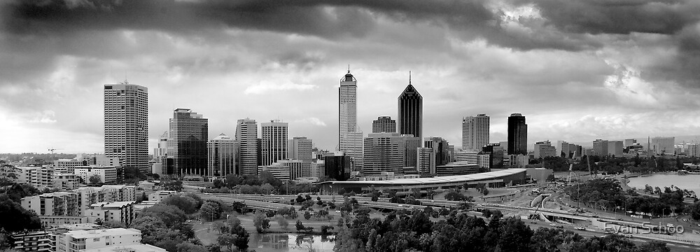 Perth Skyline by Evan Schoo