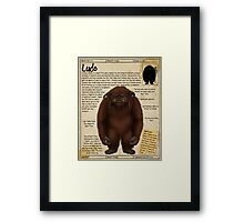 Practical Visitor's Guide to the Labyrinth - Ludo Framed Print