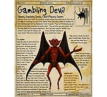 Practical Visitor's Guide to the Labyrinth - Gambling Devil Photographic Print