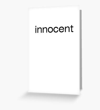 innocent Greeting Card