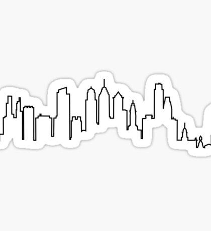 Philadelphia City Skyline Sticker