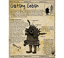 Practical Visitor's Guide to the Labyrinth - Gatling Goblin Photographic Print