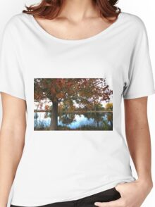 Autumn by the Lake in Bishop, CA Women's Relaxed Fit T-Shirt