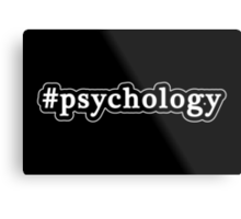 Psychology - Hashtag - Black & White Metal Print