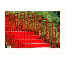 Red Steps Art Print