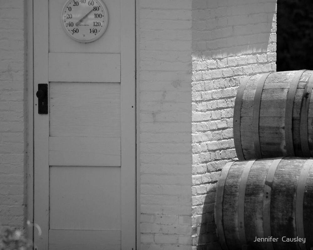 Wine Barrels by Jennifer  Causley