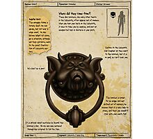 Practical Visitor's Guide to the Labyrinth - Door Knockers Page 2 Photographic Print