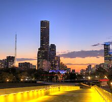 Melbourne at Dusk by photoblogku