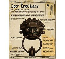 Practical Visitor's Guide to the Labyrinth - Door Knockers 1 Photographic Print