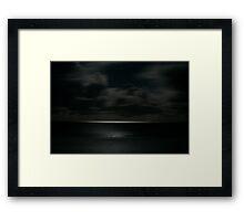 Scudding Clouds - Moonlit Sea Framed Print