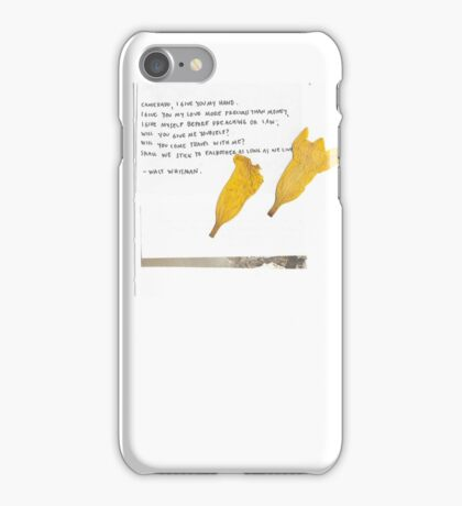 whitman quote and flowers iPhone Case/Skin