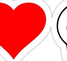 I Heart Skulls Sticker