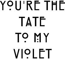 You're the Tate to my Violet Photographic Print