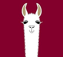 LLAMA PORTRAIT #3 by Jean Gregory  Evans