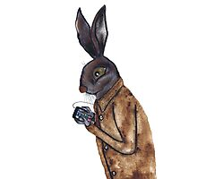 MOBILE HARE Photographic Print