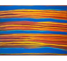 sun sets in painting Photographic Print