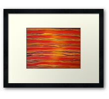 red sunset painted Framed Print