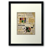 Practical Visitor's Guide to the Labyrinth - Ambrosius Framed Print