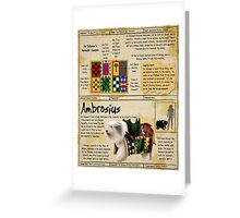 Practical Visitor's Guide to the Labyrinth - Ambrosius Greeting Card
