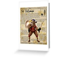 Practical Visitor's Guide to the Labyrinth - Sir Didymus Greeting Card