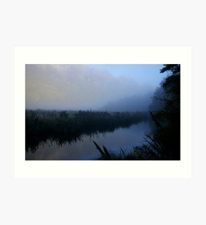 Mirror lakes Art Print