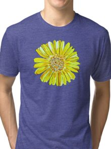 Bright and big yellow flower Tri-blend T-Shirt