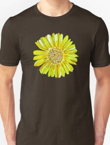 Bright and big yellow flower Unisex T-Shirt