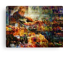 At the market Canvas Print