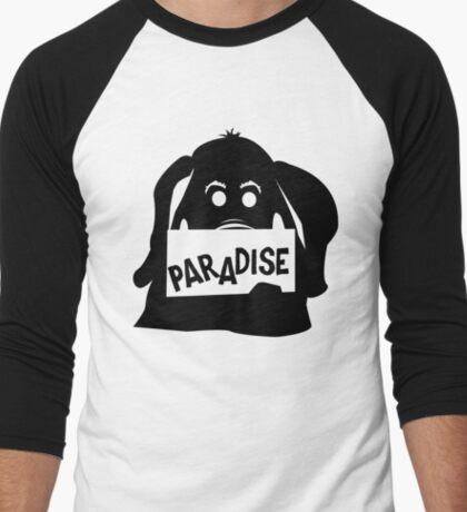 Paradise Elephant Men's Baseball ¾ T-Shirt