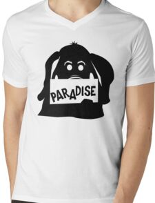 Paradise Elephant Mens V-Neck T-Shirt