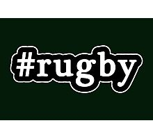 Rugby - Hashtag - Black & White Photographic Print