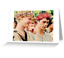 Newt and Thomas with Flowercrowns Greeting Card
