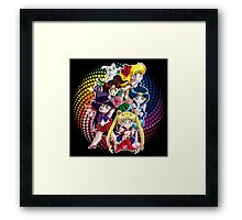 Sailor moon - Chibi Candy Edit. (Black) Framed Print