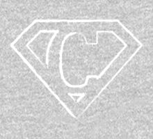 C letter in Superman style One Piece - Long Sleeve