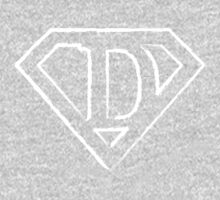 D letter in Superman style One Piece - Long Sleeve