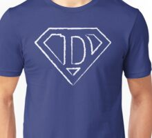 D letter in Superman style Unisex T-Shirt