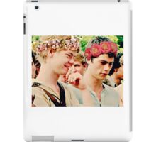 Newt and Thomas with Flowercrowns iPad Case/Skin