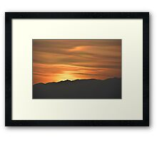 Painting the Sky Framed Print