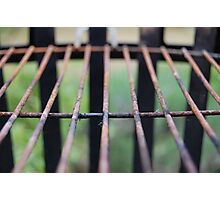 rusty grate Photographic Print
