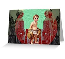 Boom boxer Greeting Card