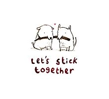 Let's Stick Together Photographic Print