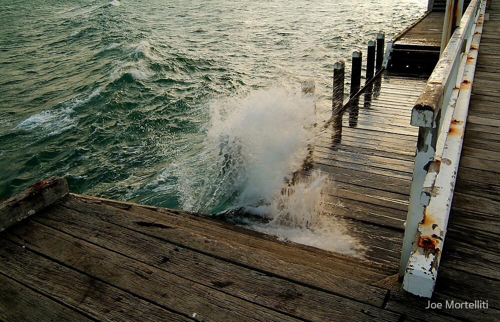 Choppy Seas,Queenscliff Pier by Joe Mortelliti