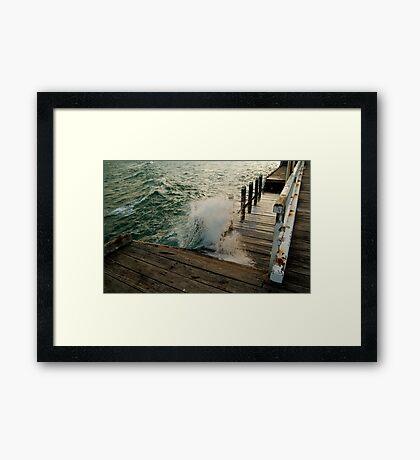 Choppy Seas,Queenscliff Pier Framed Print