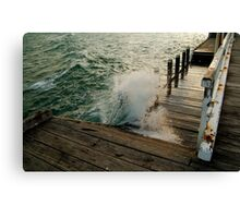 Choppy Seas,Queenscliff Pier Canvas Print