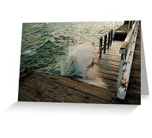 Choppy Seas,Queenscliff Pier Greeting Card