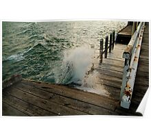 Choppy Seas,Queenscliff Pier Poster