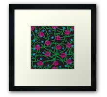 happy new year pattern Framed Print
