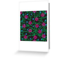 happy new year pattern Greeting Card