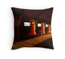 Queenscliff Pier Charm Throw Pillow