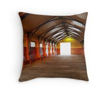 Queenscliff Pier  Throw Pillow